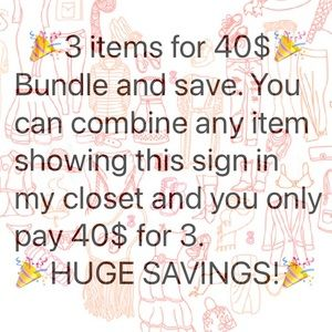 NEW YEARS SALE 🎉3FOR40$🎉